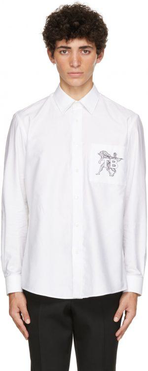 Burberry White Mythical Alphabet Small 'TB' Shirt
