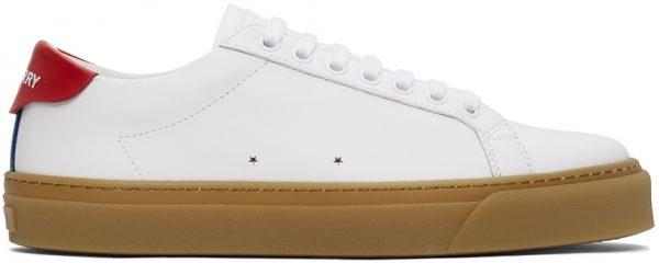 Burberry White Rangleton Low Sneakers