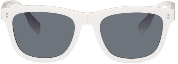 Burberry White Square Frame Foldable Sunglasses