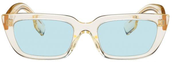Burberry Yellow Rectangular Sunglasses