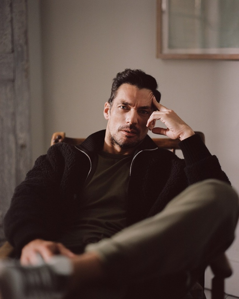 David Gandy Connects with The Sunday Telegraph, Promotes New Line Wellwear