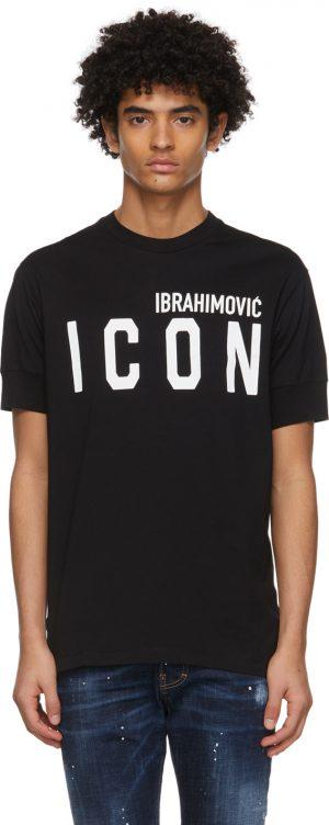 Dsquared2 Black Ibrahimovic Edition 'Icon' T-Shirt