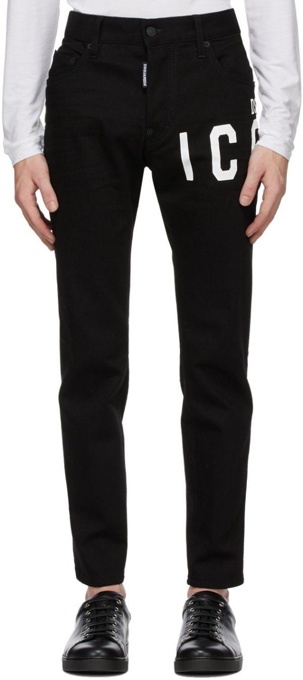 Dsquared2 Black Icon Skater Jeans