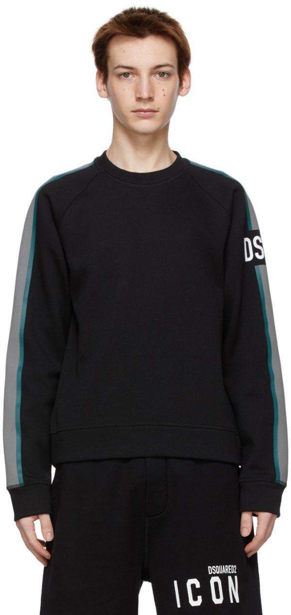 Dsquared2 Black Logo Raglan Sweatshirt