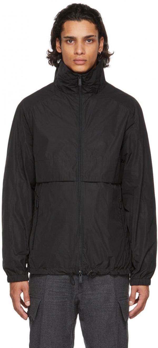 Dsquared2 Black Moto Zip Bomber Jacket