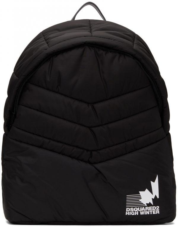 Dsquared2 Black Padded Nylon Backpack