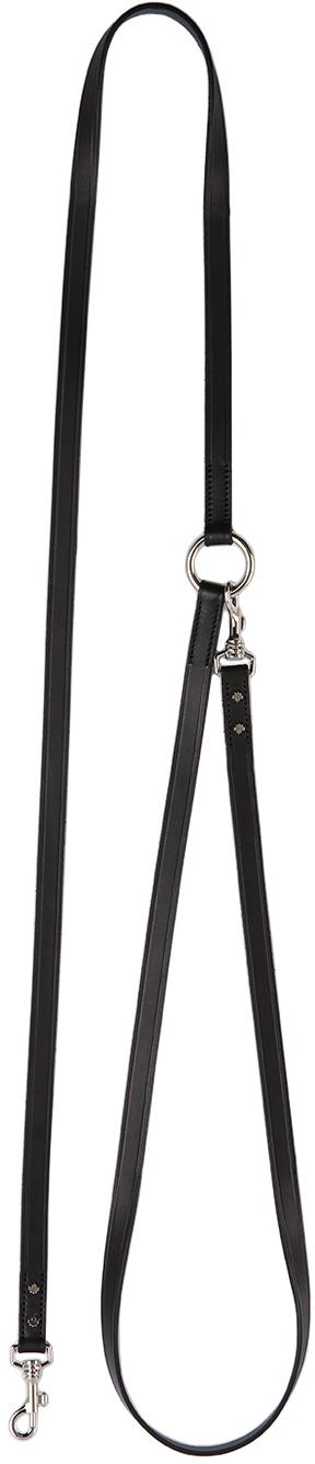 Dsquared2 Black Poldo Dog Couture Edition Montreal Leash