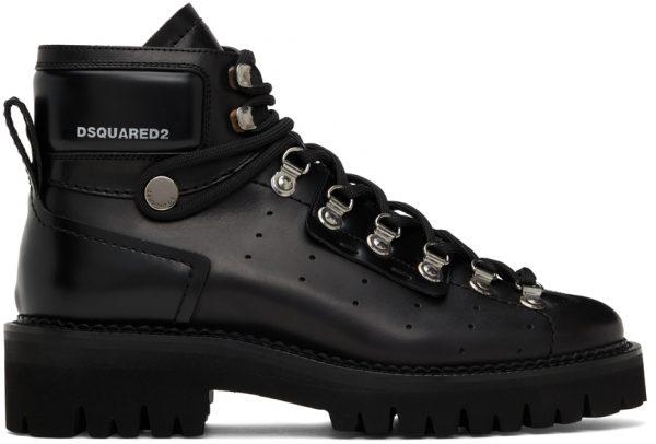 Dsquared2 Black Tank Hiking Boots
