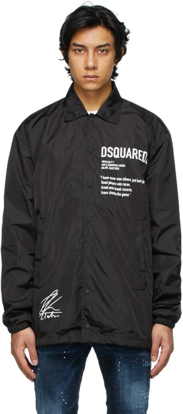 Dsquared2 Black Zlatan Ibrahimovic Edition Icon Poster Jacket