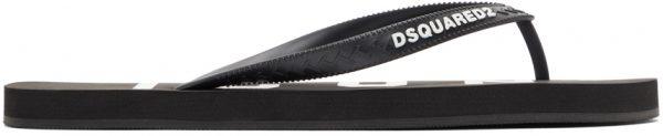Dsquared2 Black & White 'Icon' Flip Flops