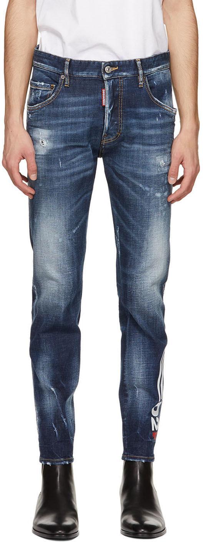 Dsquared2 Blue 4 Wash Skater Jeans