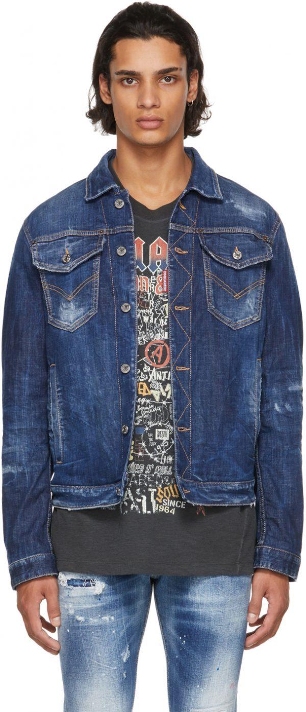 Dsquared2 Blue Denim Dan Jacket