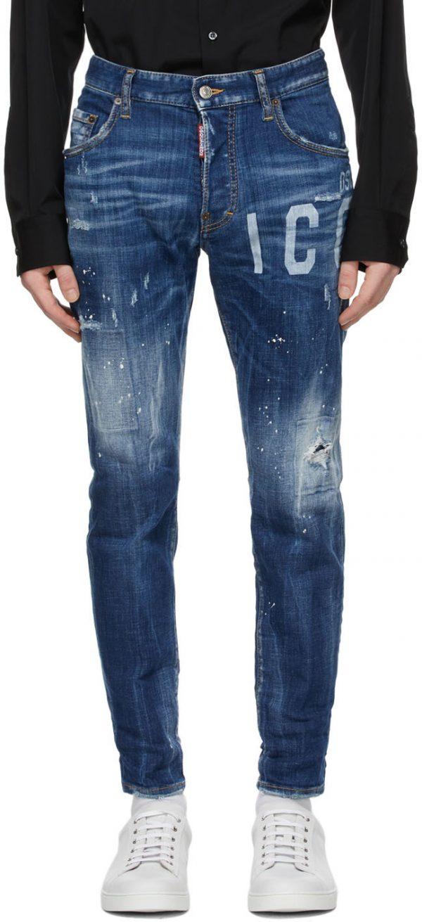 Dsquared2 Blue Icon Skater Jeans