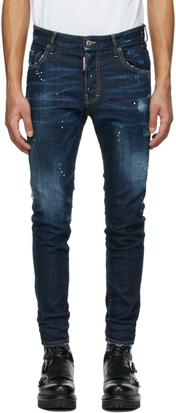 Dsquared2 Blue Zlatan Ibrahimovic Edition Icon Talent Skater Jeans