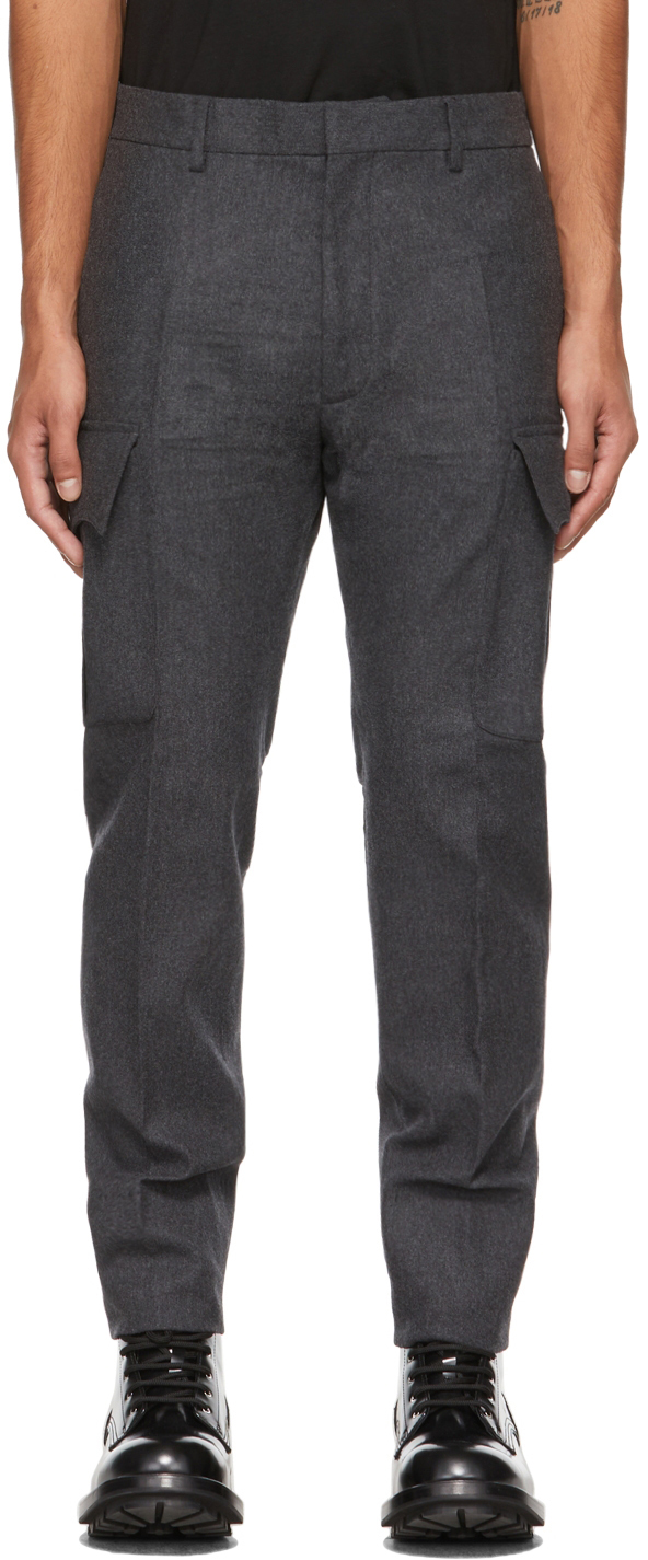 Dsquared2 Grey Wool Cargo Pants