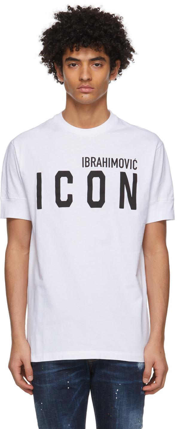 Dsquared2 White Ibrahimovic Edition 'Icon' T-Shirt