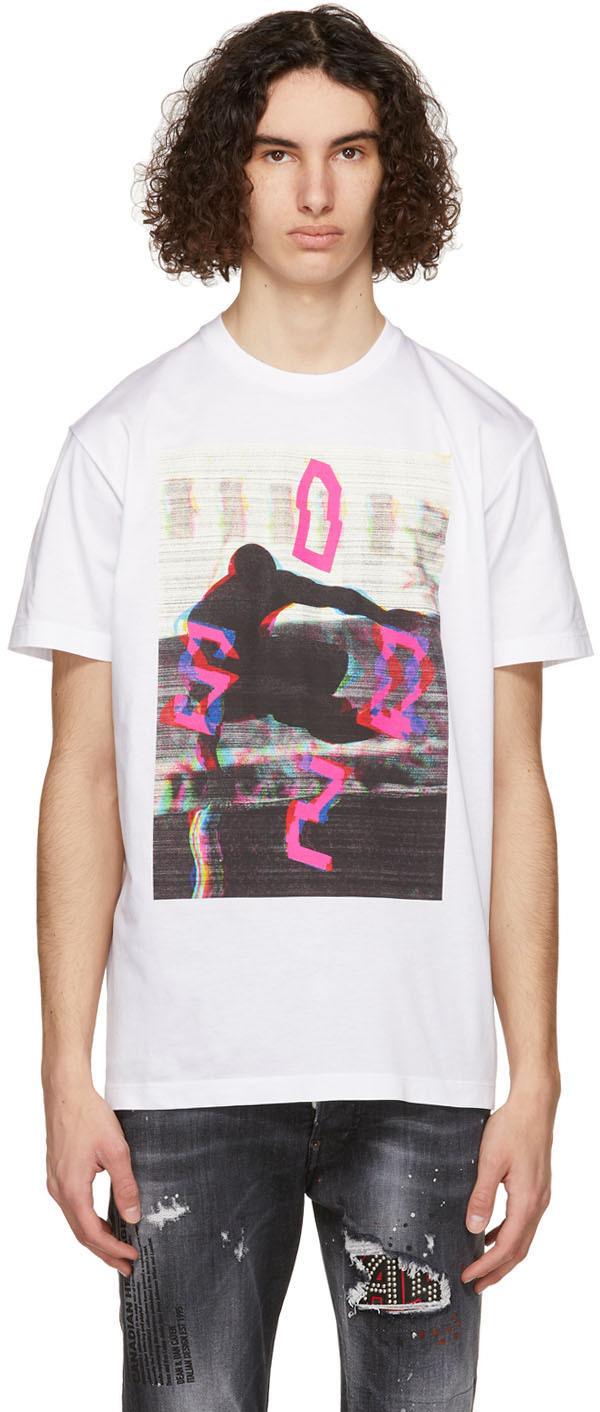 Dsquared2 White Run Cool T-Shirt