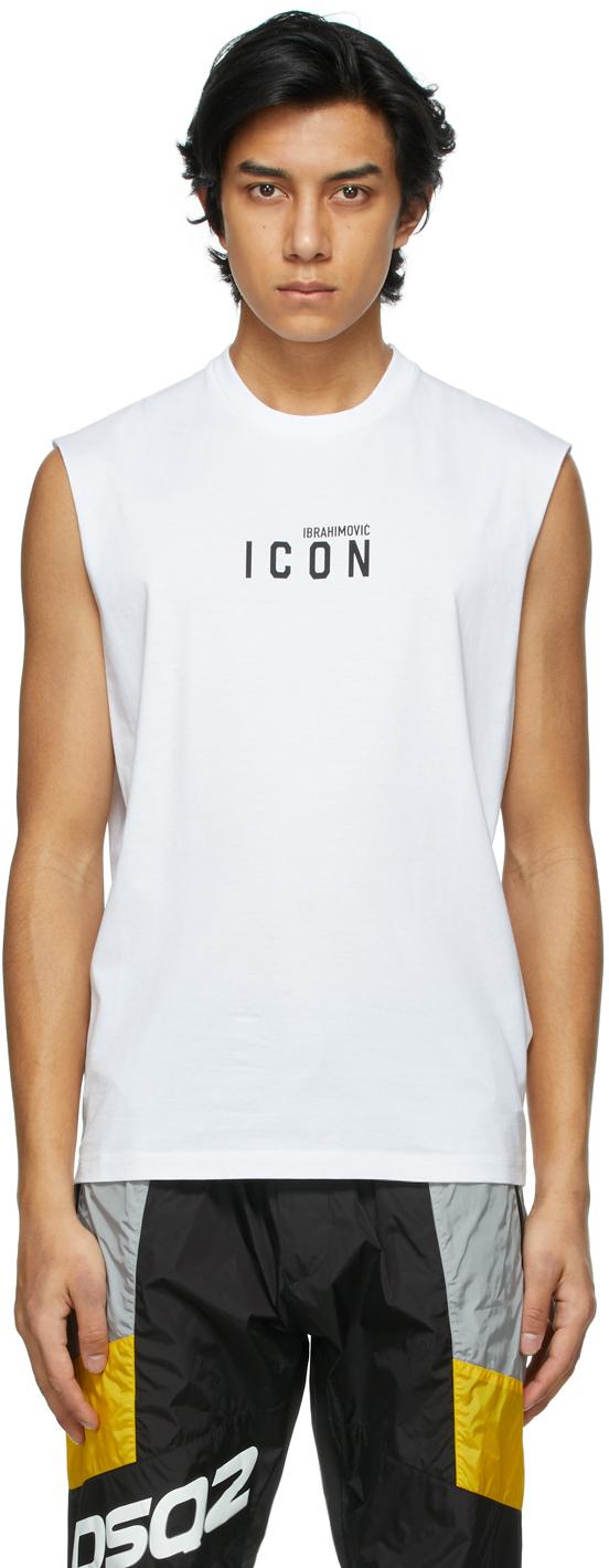 Dsquared2 White Zlatan Ibrahimovic Edition Icon T-Shirt