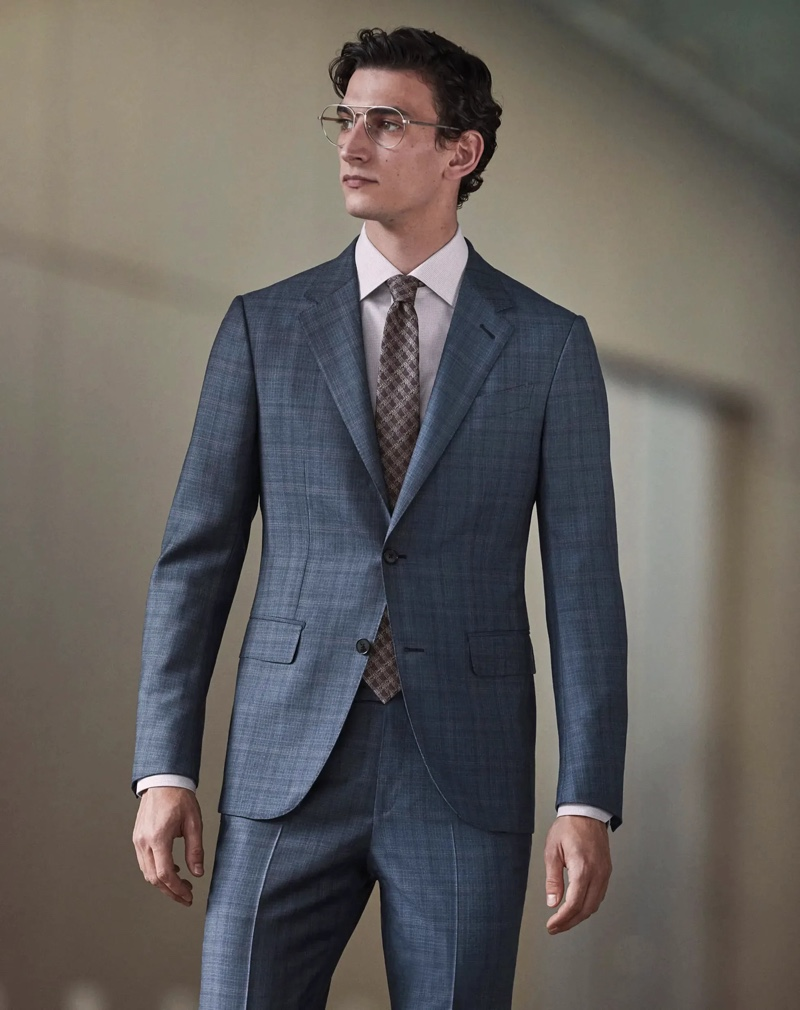 Thibaud Charon suits up for the boardroom in a Zegna made to measure look.