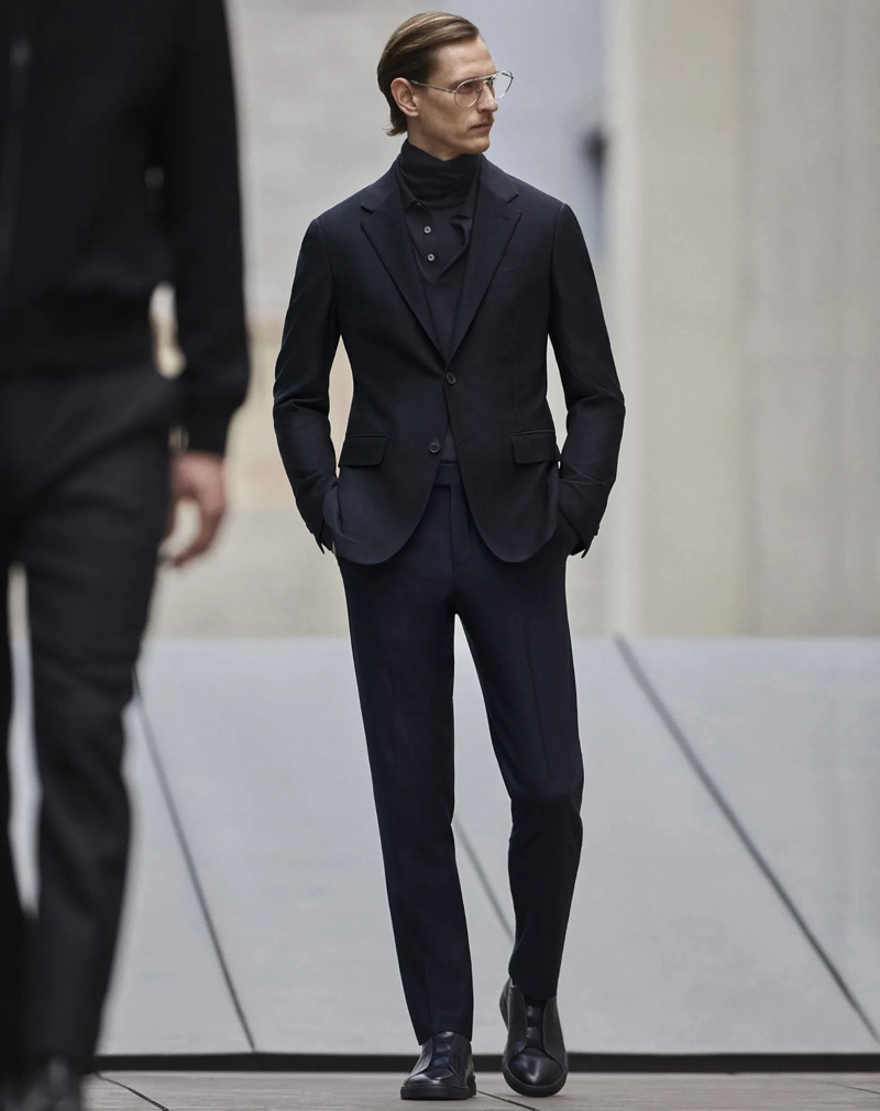Rogier Bosschaart is a sartorial vision in Zegna Made to Measure.