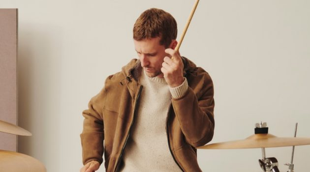 Playing the drums, George Barnett stars in Massimo Dutti's latest men's feature.