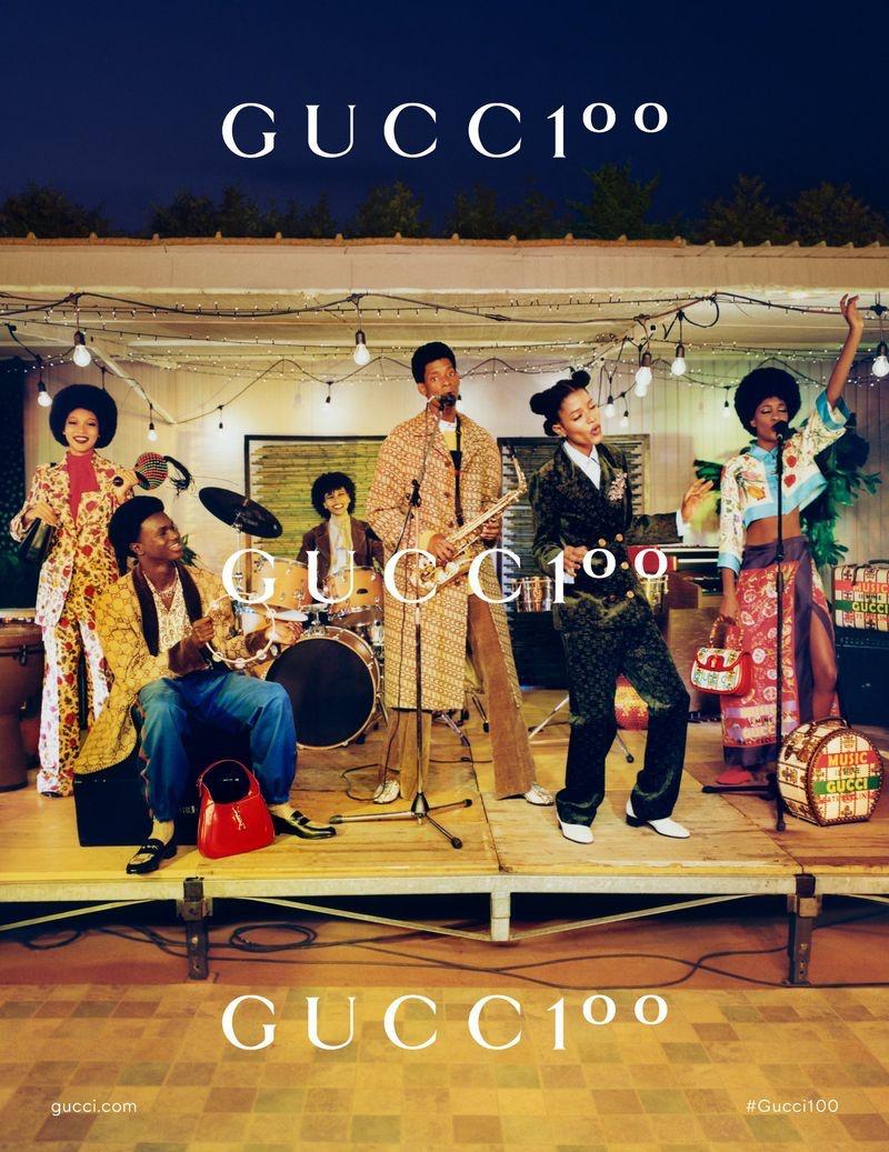 It's pure good vibes as Africa Mina, Lamine Lo, Mavi Sioli, Vanderson Almeida, Dede Mansro, and Elisa Abraga come together for the Gucci 100 campaign.
