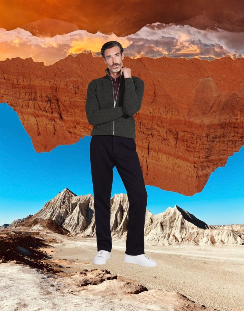 Richard Biedul Dons Must-have Knitwear from John Smedley
