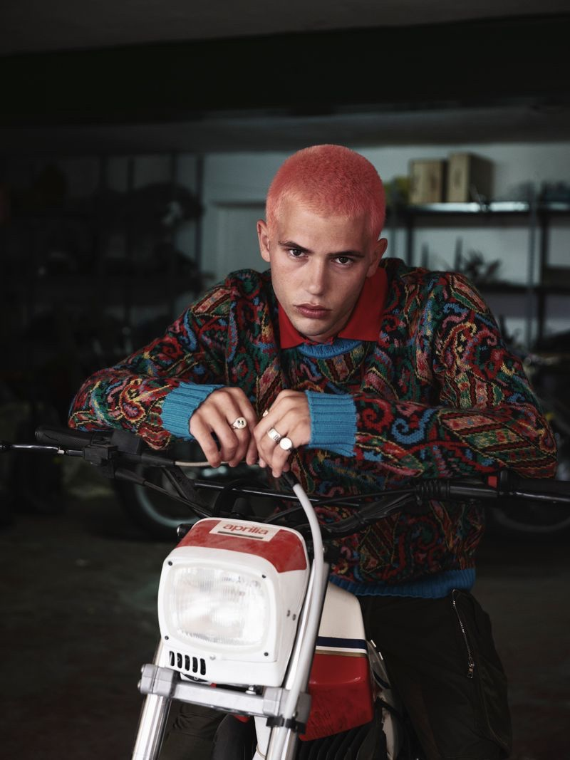 Julio Taeño Rocks Modern Biker Style for Esquire Czech Republic