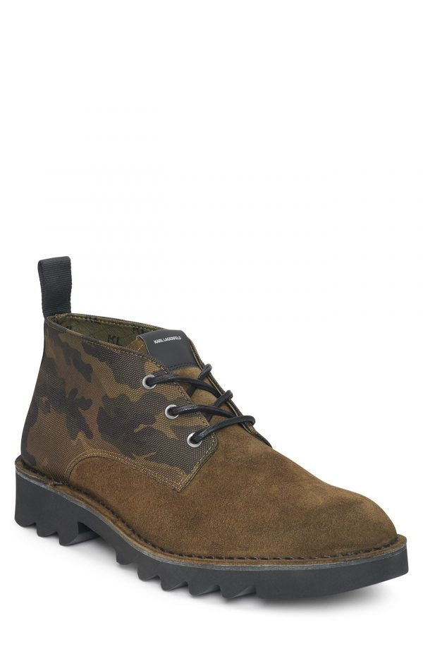 Karl Lagerfeld Paris Chukka Boot, Size 7 in Olive at Nordstrom