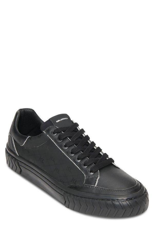 Karl Lagerfeld Paris Logo Monogram Sneaker, Size 9 in Black at Nordstrom
