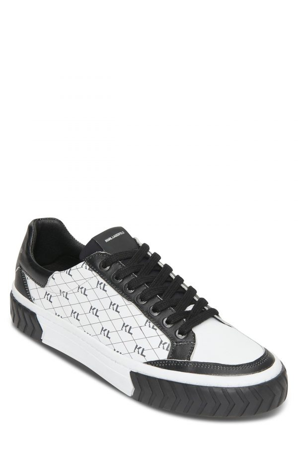 Karl Lagerfeld Paris Logo Sneaker, Size 8 in White at Nordstrom