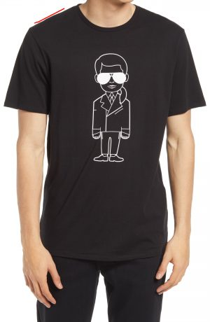 Karl Lagerfeld Paris Men's Karl Character Graphic Tee, Size Small in Black at Nordstrom