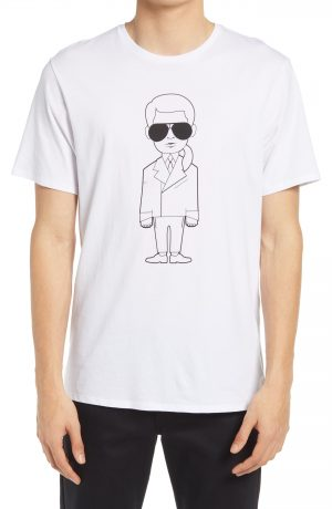 Karl Lagerfeld Paris Men's Karl Character Graphic Tee, Size Small in White at Nordstrom