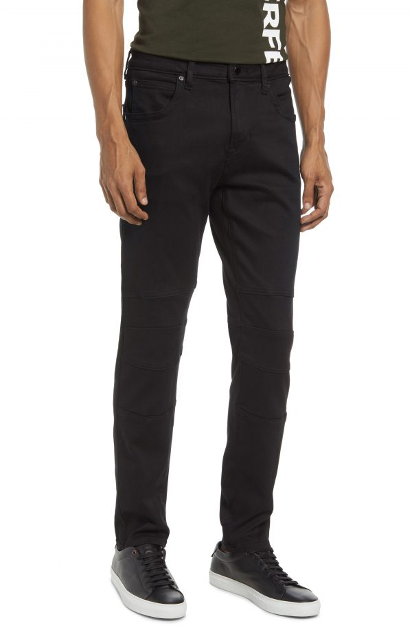 Karl Lagerfeld Paris Moto Pants, Size 30 in Black at Nordstrom
