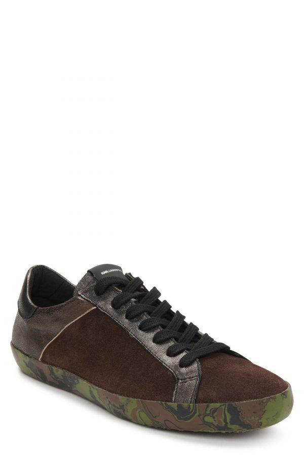 Karl Lagerfeld Paris Sneaker, Size 12 in Brown at Nordstrom