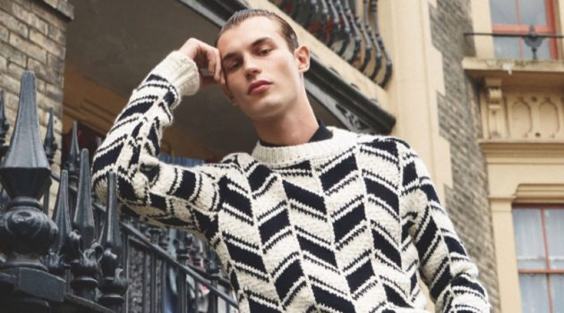 Kit Butler Hits London's Streets in Graphic Menswear for British GQ