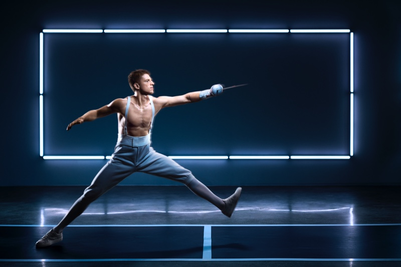 Fencer Race Imboden appears in Lab Series' Invent Yourself campaign.