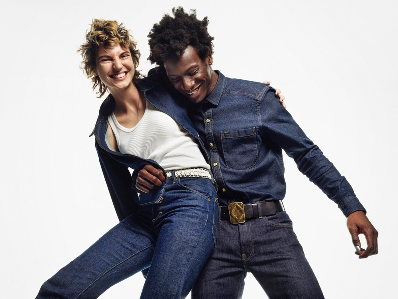 Ilana Kozlov and Adonis Bosso appear in Lee's fall-winter 2021 campaign.