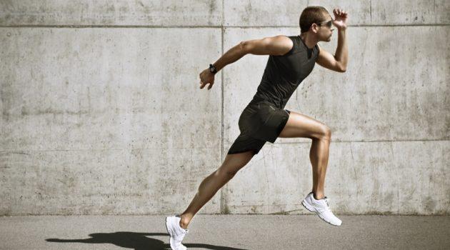 Man Running White Sneakers Pose
