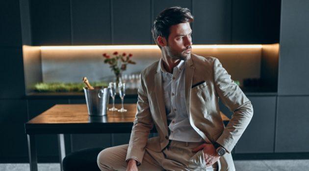 Man Suit Kitchen Bar Stool Modern