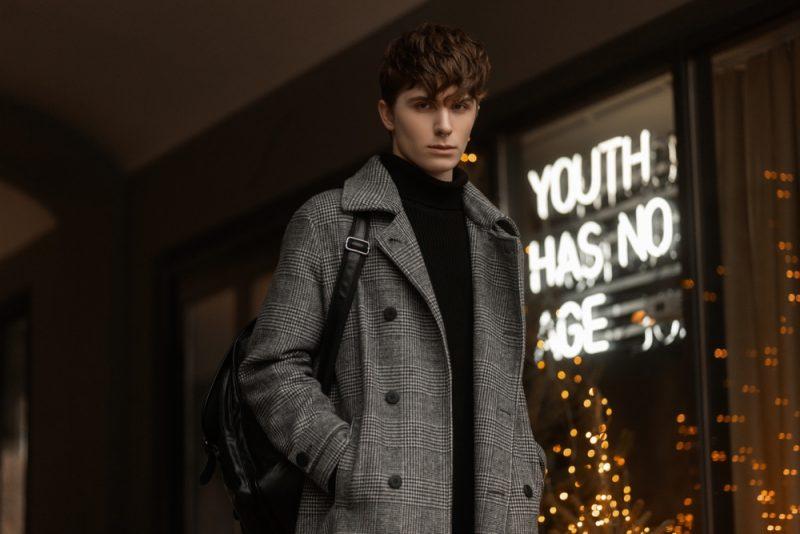 Man Wearing Fall Coat