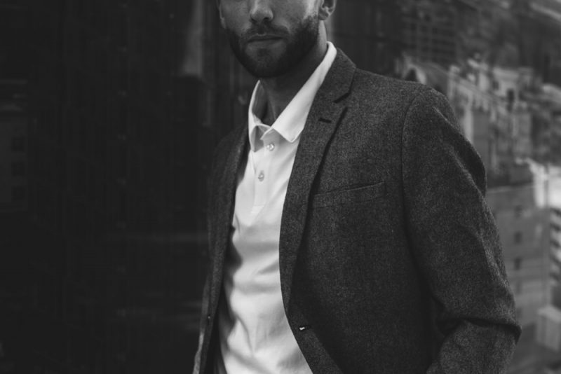 Man in Blazer and Polo