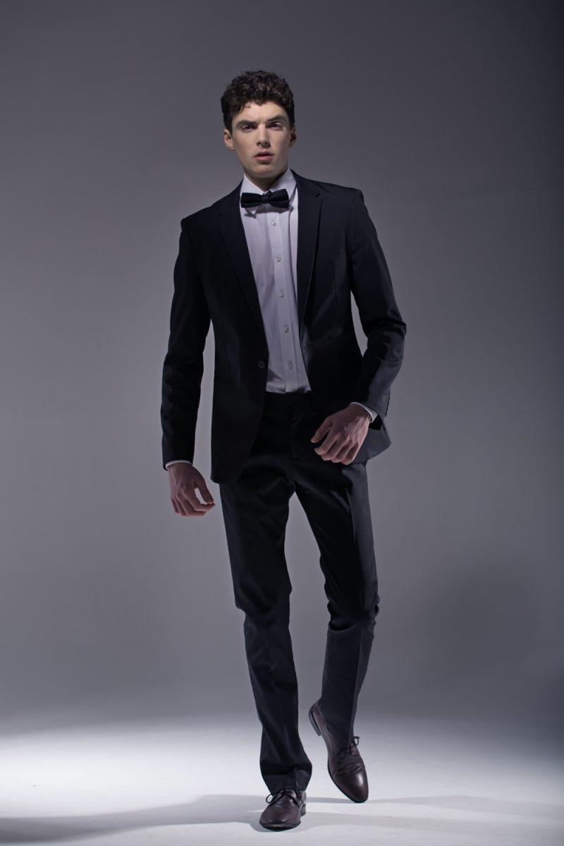 Man in Formal Dress Suit Bowtie