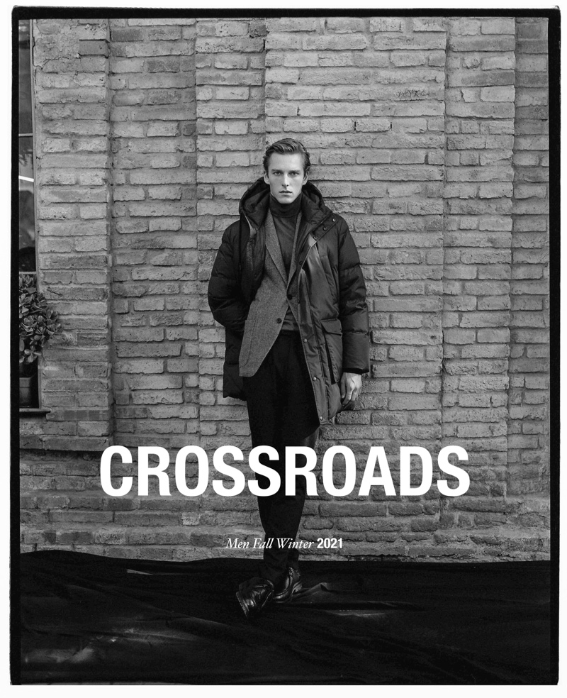 """Quentin Demeester reunites with Massimo Dutti for fall, starring in a new editorial entitled """"Crossroads."""""""