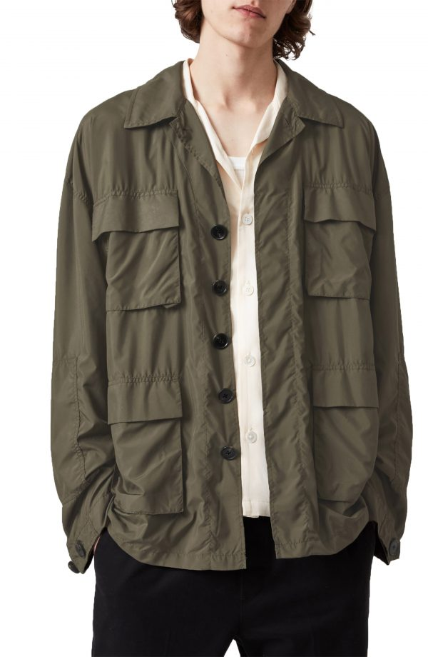 Men's Allsaints Adley Nya Utility Jacket, Size X-Small/Small - Green