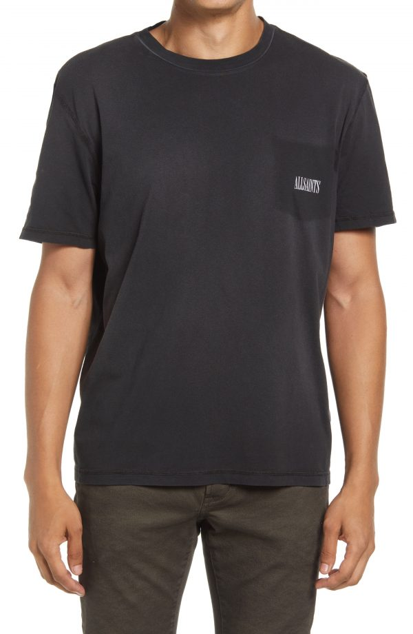 Men's Allsaints Ayers Logo T-Shirt, Size X-Large - Black