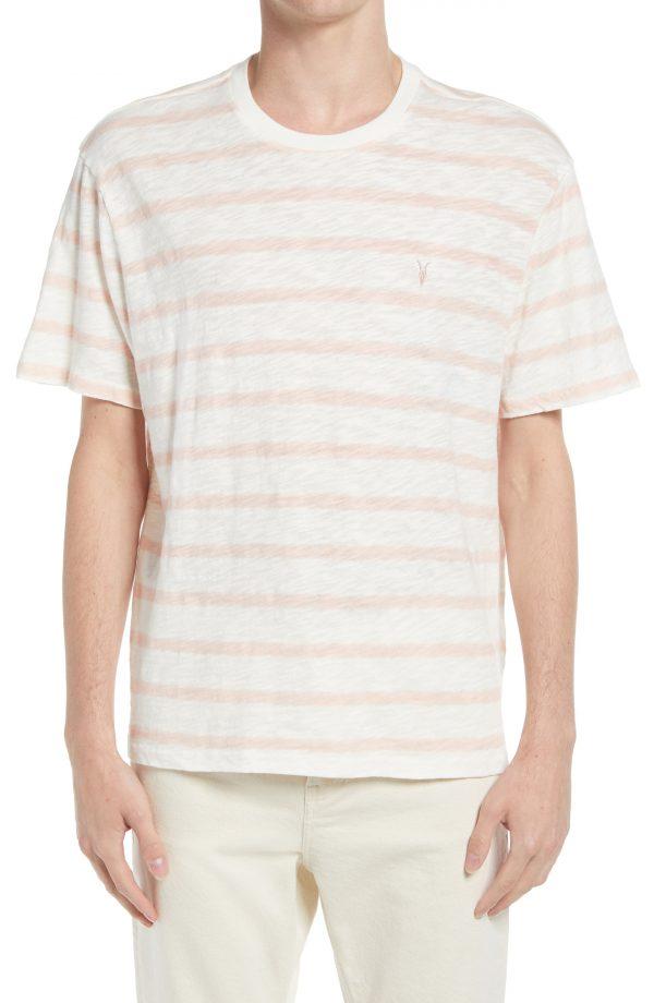 Men's Allsaints Bamford Stripe T-Shirt, Size Medium - White