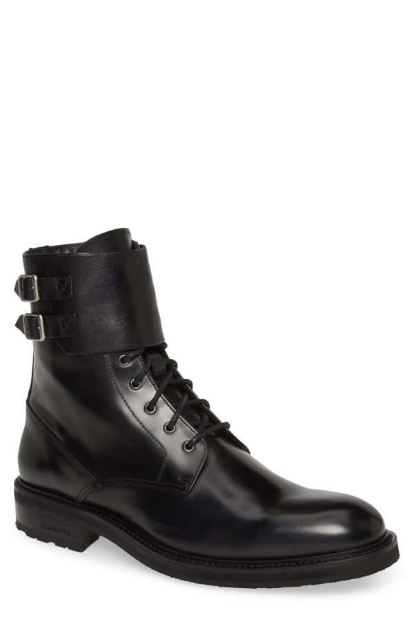 Men's Allsaints Beckwith Plain Toe Boot, Size 9 M - Black