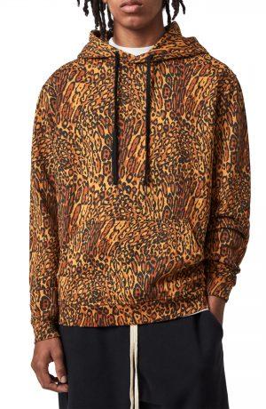 Men's Allsaints Bengali Cotton Hoodie, Size Small - Orange