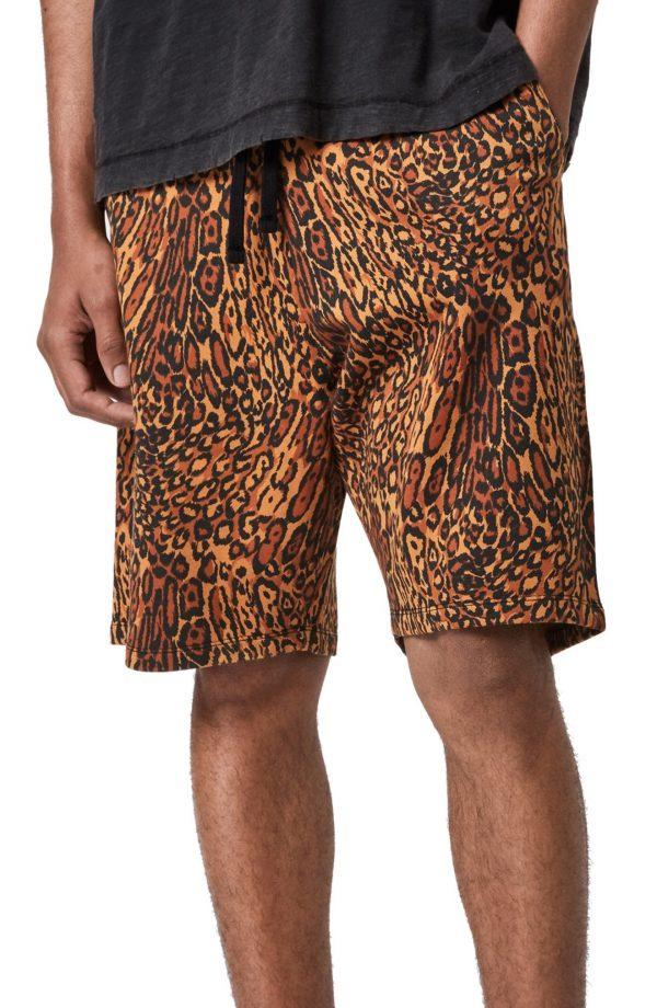Men's Allsaints Bengali Cotton Sweat Shorts, Size X-Small - Yellow